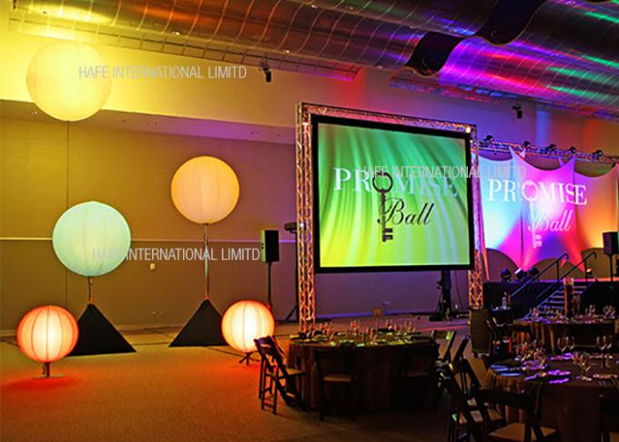 Customize Colorful Event Space Lighting , 2700 K Warm White Lighting In Wedding Receptions