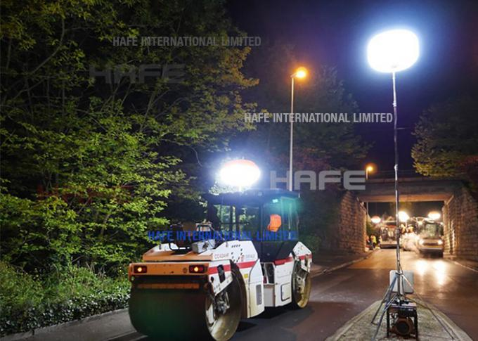 Construction Portable Rechargeable LED Lights , Inflatable Construction Work Light 200W