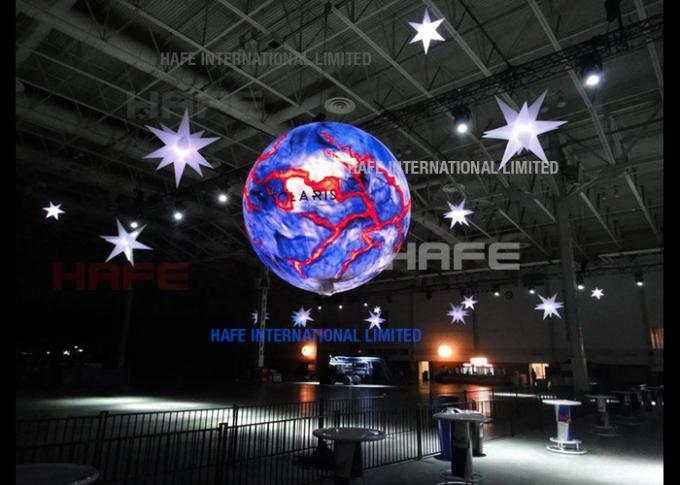 Night Flying Illuminate 2.2 M Party Events Led Helium Balloons With Lights Inside