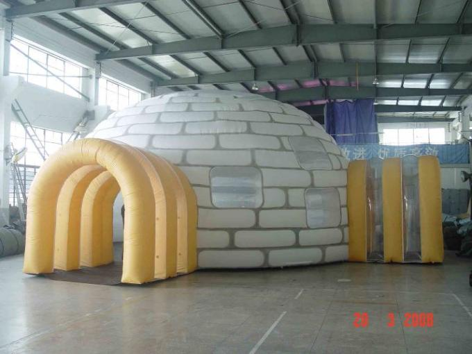 Custom Advertising Air Supported Inflatable Dome Tent , Inflatable Giant Tent