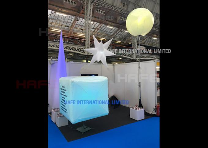 Star Shape Inflatable Lighting Decoration With Polysilk Material 1200W Halogen