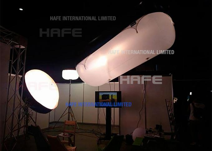 HMI Lighting Sourse Helium Filled Lighting Balloons Floating In Air For Film TV Shooting