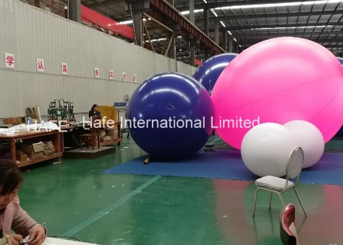Advertising Big 5m Inflatable Helium Balloon Lights With 165W Led Light