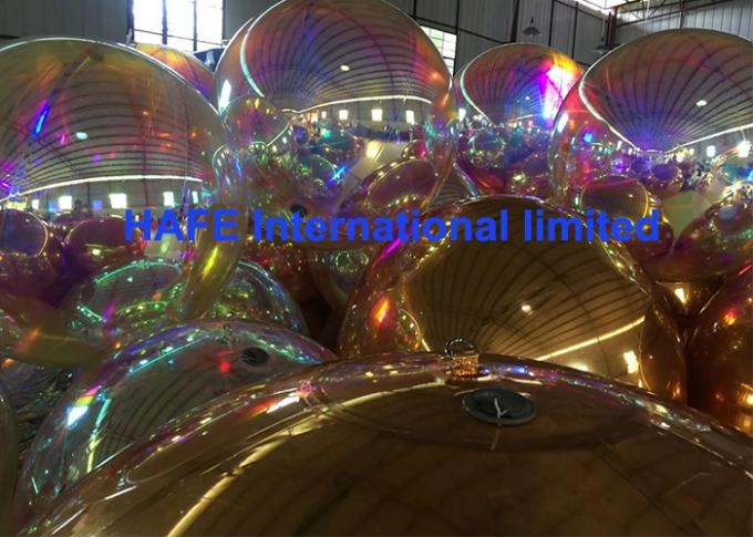 3M Pink Purple Inflatable Mirror Balloon Flying Balloon For Events Decoration