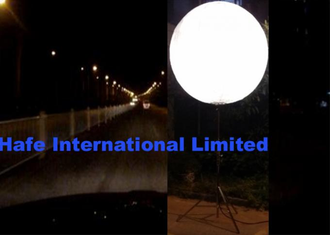 800w Dual White 80000Lm Moon Balloon Light Mounted On Tripod Or Truss