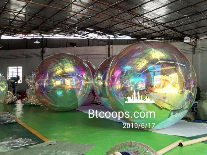 10 Feet Hanging Inflatable Mirror Balloon For Dior Stage Show Decoration