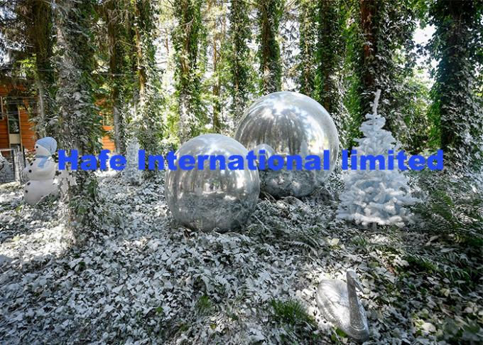 Silver Giant Advertising Balloons For Outdoor Private Theme Winter Party