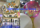 Golden Pink Laser Shine Radiant Inflatable Mirror Balloon For Decoration
