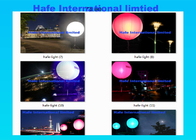 Events Lighting 400W RGB + White Light Up Balloons With DMX512 Control Box
