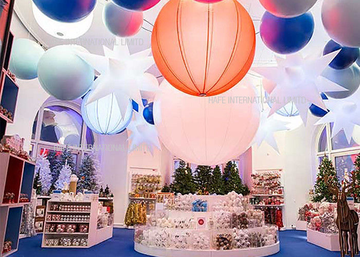 1.6M  Inflatable Lighting Decoration 240W , Led Hanging Outdoor Christmas Snow Globe Lights