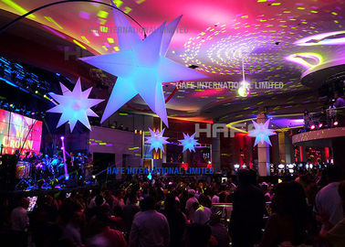 China 2m Diameter Giant Inflatable Beautiful Advertising Led Lighting Star For Wedding factory