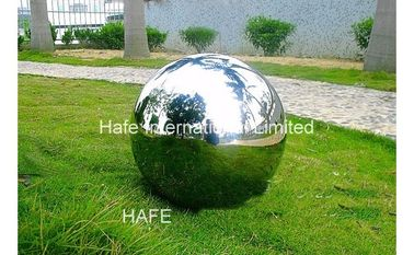 1.5M Durable Giant Inflatable Mirror Ball , Silver Reflective Balloons For Party Wedding